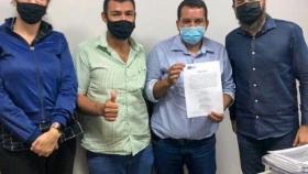 O Prefeito Diego Taques, e o Vice Bira, tomam posse como os mais novos membros do CODEM